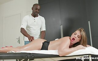 Busty MILF Sexy Suzy massaged and ass fucked by a black guy