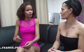La France A Poil - Casting Couch Of A Skinny Black Slut