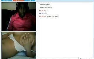 Nasty prank on lesbian webcam