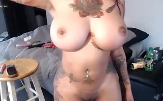 Amazing Homemade video with Piercing, Webcam scenes
