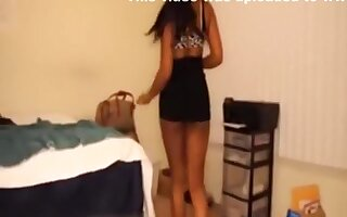Ebony girl gets so wild and dirty