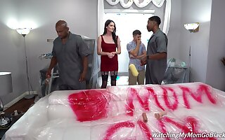 Hardcore interracial triple with slutty tie the knot Aria Khaide