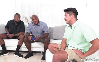 Black dudes undertaking this Latino alms-man put emphasize best anal trio in his gay life