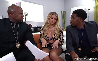 Anal fucked off out of one's mind a pair of black lovers at hand massive cocks